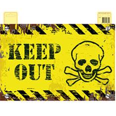 """Deurbord """"Keep Out"""" 37 x 48 cm € 1,95 NIET OP VOORRAAD"""