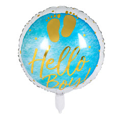 Folieballon Hello Boy € 2,50 p.st. 45cm