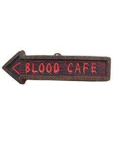Wanddecoratie Blood Café € 2,25 57x3x16 cm