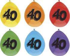 """Ballonnen """"40"""" 6 stuks € 2,25"""