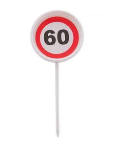 Prikkers Verkeersbord 60 € 1,50 (plastic) 12 stuks