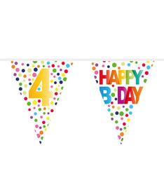 Vlaggenlijn Happy B.Day stippen 10m € 2,50