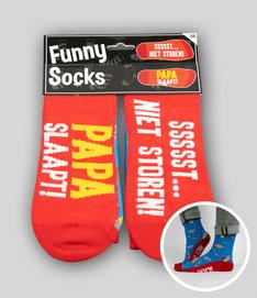 Funny Socks - Papa slaapt € 7,95