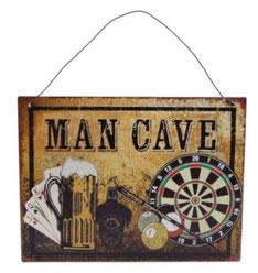 Wanddecoratie Man Cave € 3,95 metaal 20x15 cm