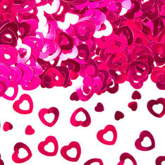 afeldecoratie / sierconfetti hart roze € 1,75 UITVERKOCHT