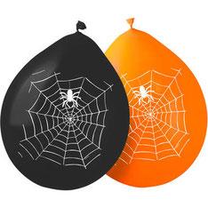 Ballonnen spinnenweb 8 st € 3,25