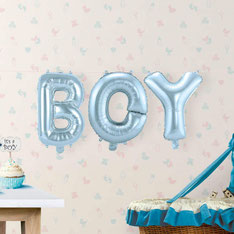Folieballon BOY blauw 36 cm hoog € 4,95