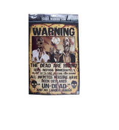 Poster Warning The dead are rising € 2,50 43 x 29 cm