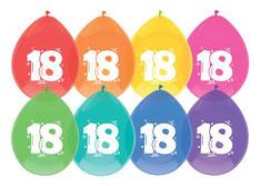 Ballonnen 18 gekleurd 6 stuks €2,25