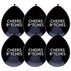 Ballonnen Cheers Bitches € 2,50 6stuks