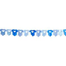Slingers blauwe rompers 6 m € 2,95
