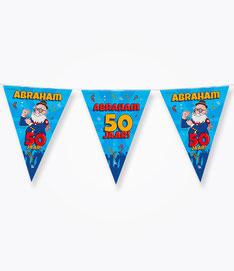 Vlaggenlijn 10m € 2,50 Abraham Cartoon
