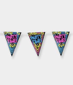 Vlaggenlijn 10m € 2,50  Neon Party Time