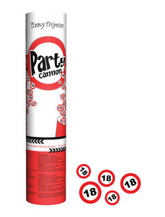 Confetti Kanon € 2,95 verkeersbord 18  UITVERKOCHT