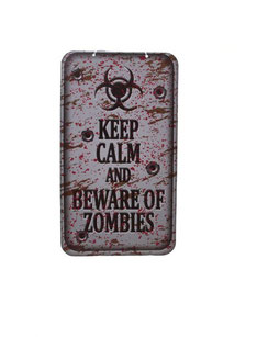 Wanddecoratie Keep Calm and beware of zombies € 2,95 40x22 cm