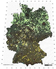 Verbreitungskarte Grasfrosch