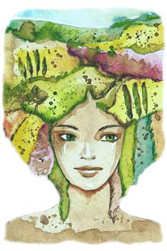 Lebensfreude, Himmel und Erde verbunden, Mensch und Natur, Balance, Geborgen im Leben Familienaufstellungen systemische Beratung