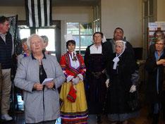 à la mairie Penne d'Agenais avec Mme Maria Garrouste