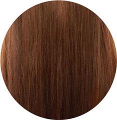lange rote Haare nach dem Glätten
