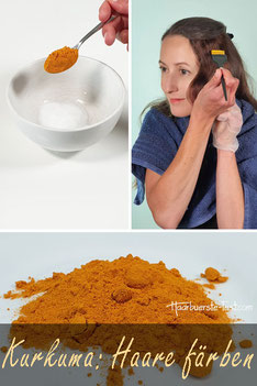 haare färben mit kurkuma
