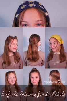 Einfache Frisuren für die Schule