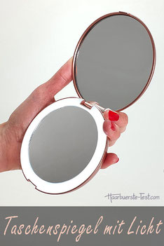 taschenspiegel mit licht