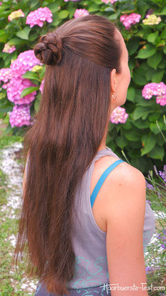 halboffene haare geflochten