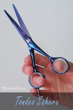 Tondeo Friseurschere im Praxis Test