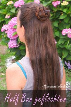 Half Bun geflochten lange Haare