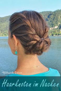 Haarknoten im Nacken