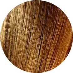 Detail wellige Haare NACH dem Glätten mit Remington CB7400 Glättbürste