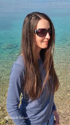 Einfache halboffene Frisur mit Mini Haarklammern