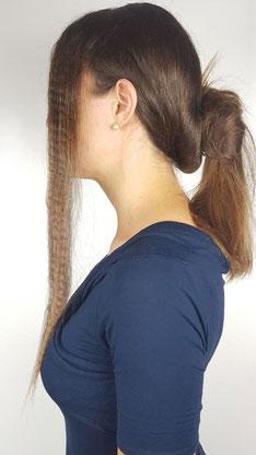 gekreppte Haare, Haare kreppen