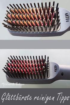 Glättbürste reinigen
