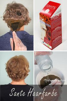 Haare färben mit Lebensmittelfarbe