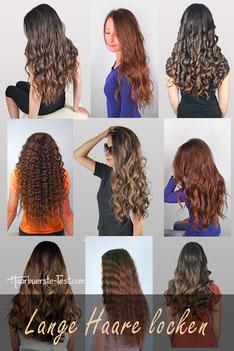 Lange Haare locken