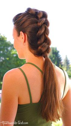 Pull Through Braid, Pull Through Zopf, Frisur halblange Haare