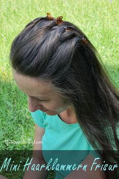 mini haarklammern frisur