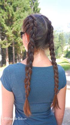 Double Dutch Braid lange Haare