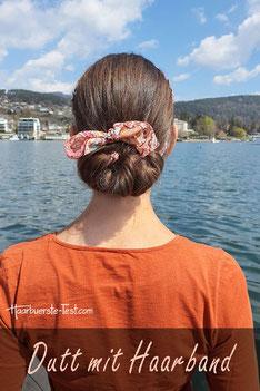 dutt mit haarband