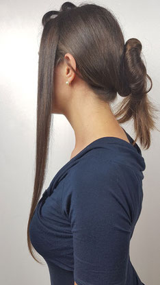 glatte Haare, geglättete Haare