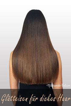Welches Glätteisen für dickes Haar?