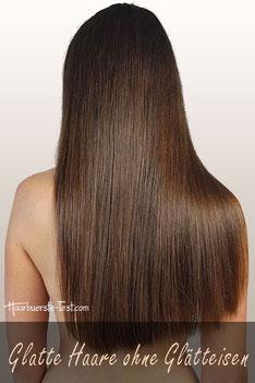 Wie bekommt man glatte Haare ohne Glätteisen?