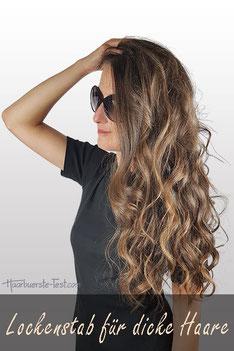 Welcher Lockenstab für dicke Haare?