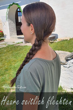 Haare flechten seitlich