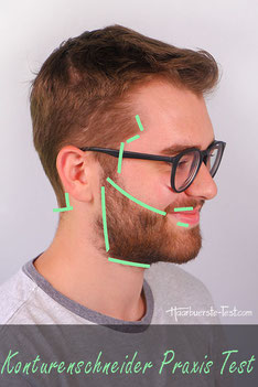 Konturen Haarschneidemaschine