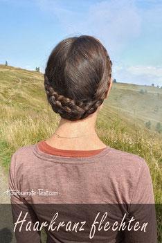 Haarkranz flechten