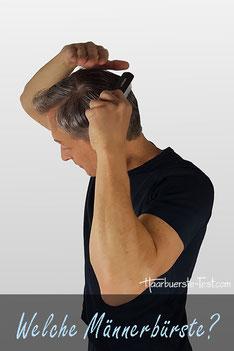 männer haarbürste