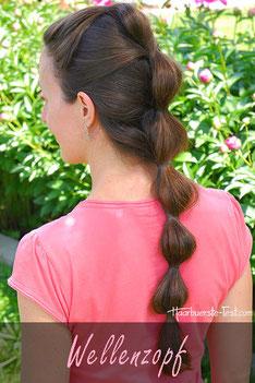 Zopf für lange Haare