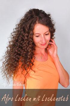 Afro Haare mit Lockenstab